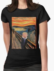 Screaming Donald Womens Fitted T-Shirt