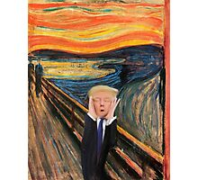 Screaming Donald Photographic Print