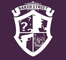 Baker Street White Womens Fitted T-Shirt