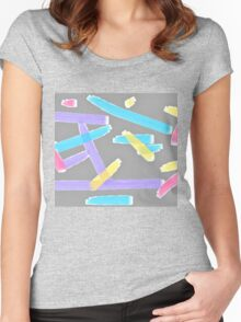 Pastel Brush Strokes Women's Fitted Scoop T-Shirt