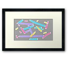 Pastel Brush Strokes Framed Print