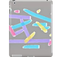 Pastel Brush Strokes iPad Case/Skin