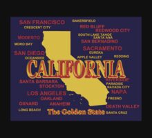 California State Pride Map Silhouette  Kids Clothes