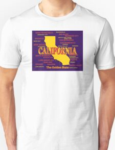 California State Pride Map Silhouette  T-Shirt
