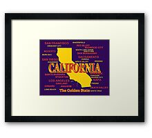 California State Pride Map Silhouette  Framed Print