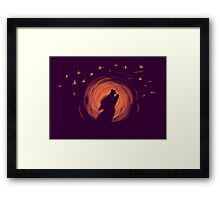Moony Framed Print