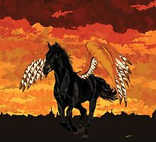 Winged Horse by ciaca