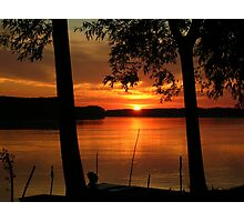 The sunset on the Danube..... Photographic Print