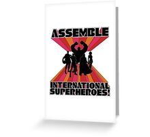 International Superheroes Greeting Card