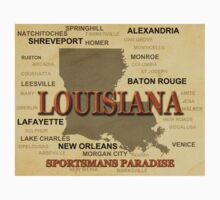 Louisiana State Pride Map Silhouette  Kids Clothes