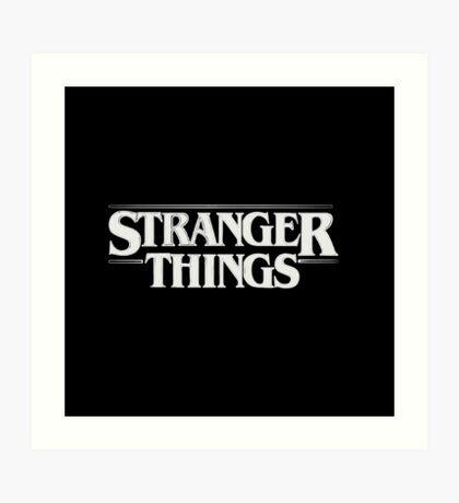 Stranger Things - White Art Print