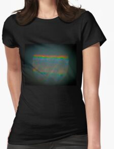 Abstract Refracted Rainbow Womens Fitted T-Shirt