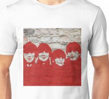 The Beatles Graffiti on Brick Wall Unisex T-Shirt
