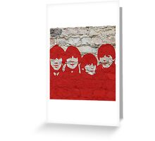 The Beatles Graffiti on Brick Wall Greeting Card