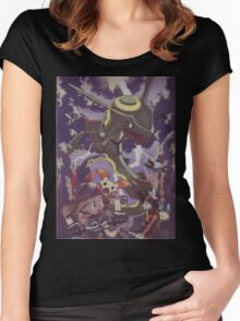 pokemon rayquaza Women's Fitted Scoop T-Shirt