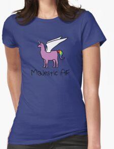 Majestic AF Pink Llamacorn Womens Fitted T-Shirt