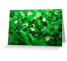 Green Lego Blocks Poster/Pillow/Stickers Greeting Card