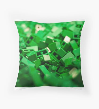 Green Lego Blocks Poster/Pillow/Stickers Throw Pillow