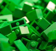 Green Lego Blocks Poster/Pillow/Stickers Sticker