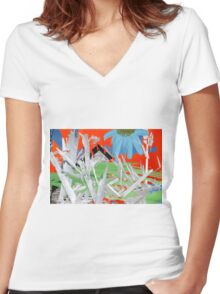 West Coast Wild Women's Fitted V-Neck T-Shirt