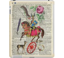 Vintage Colourful Illustrations Dictionary Art  iPad Case/Skin