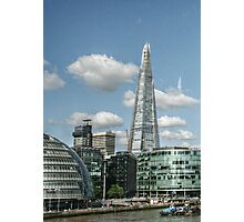 The Shard and City Hall from the Tower Bridge Photographic Print