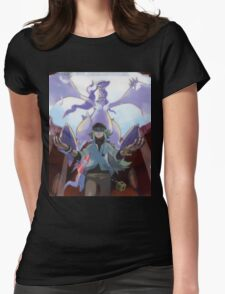 pokemon reshiram and n Womens Fitted T-Shirt