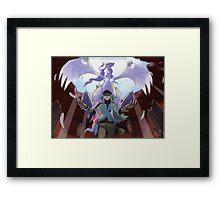 pokemon reshiram and n Framed Print