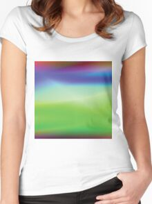 colorful abstract background Women's Fitted Scoop T-Shirt