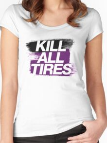 Kill All Tires (6) Women's Fitted Scoop T-Shirt