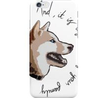 Doggy Thoughts iPhone Case/Skin