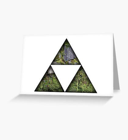 Legend Of Zelda Triforce Greeting Card