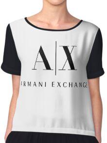 armani exchange- Black Chiffon Top