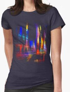 city at night Womens Fitted T-Shirt