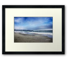 Northern CA Coastline - as the fog was lifting Framed Print