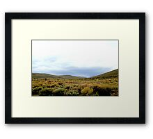 Desolate Field In Bodie Ghost Town Framed Print