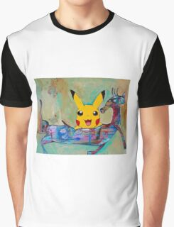 Pokemon Go Shows Up! Graphic T-Shirt