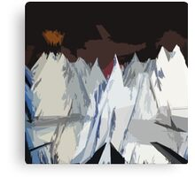 Radiohead Kid A Mountains Stylized Canvas Print