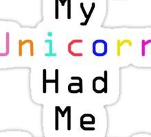 Crazy Unicorn Sticker