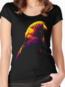 Colored Parakeet Women's Fitted Scoop T-Shirt