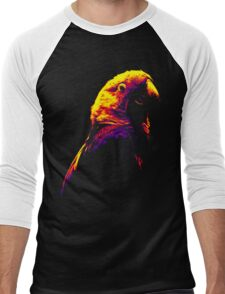 Colored Parakeet Men's Baseball ¾ T-Shirt