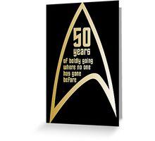 50 years of Star Trek Greeting Card