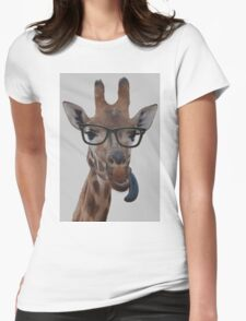 Geek Giraffe Womens Fitted T-Shirt