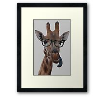 Geek Giraffe Framed Print