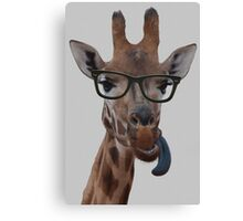 Geek Giraffe Canvas Print