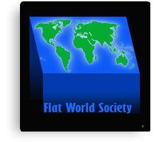 FLAT WORLD SOCIETY Canvas Print