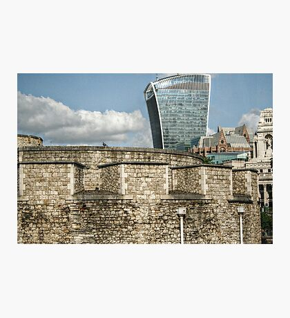 20 Fenchurch Behind the Tower Walls Photographic Print