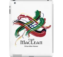 Clan MacLean - Prefer your gift on Black/White, let us know at info@tangledtartan.com iPad Case/Skin