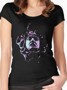 Head of Medusa Black Light Women's Fitted Scoop T-Shirt
