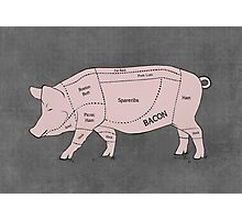 Parts of a Pig with Emphasis on Bacon Photographic Print